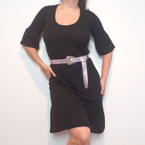 NWT Pure Cashmere Onyx Black Knit Pullover Dress